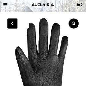 Auclair Hazel Leather Glove in Black (NWT)